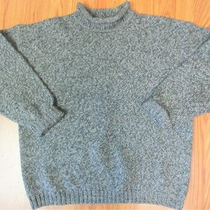 ABERCROMBIE & FITCH Mens WOOL TURTLENECK SWEATER